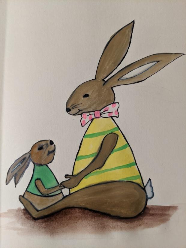 Bunny Love | Sandra Burns Art