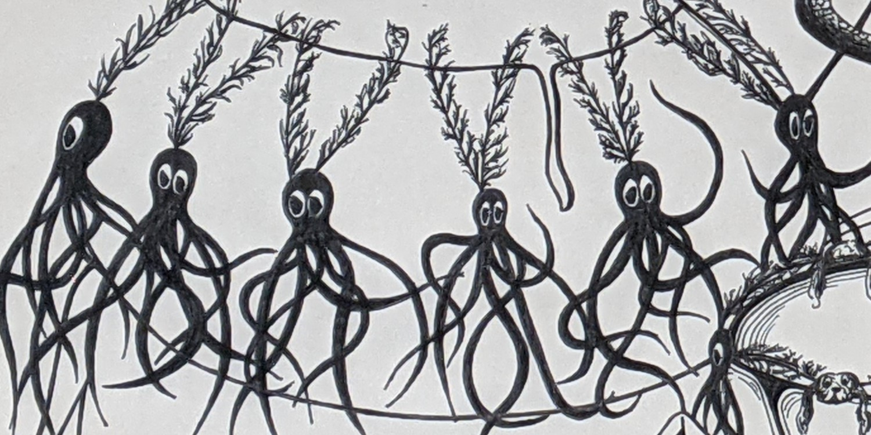 Sea Creatures Surrealism (cropped) - Sandra Burns Art