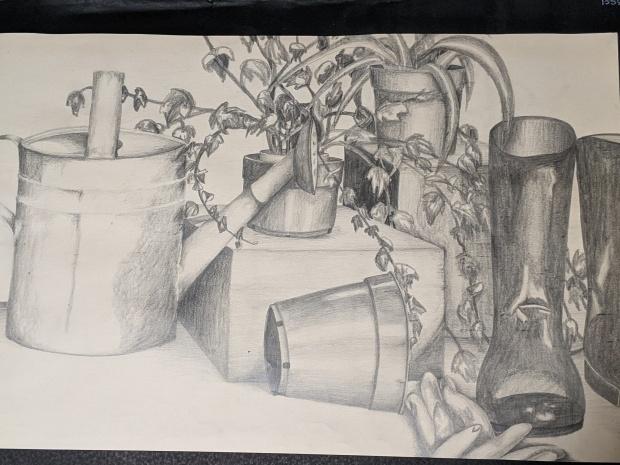 The Gardener   Sandra Burns Art