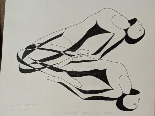 Sketchbook Project | Abstract Yoga | Sandra Burns Art