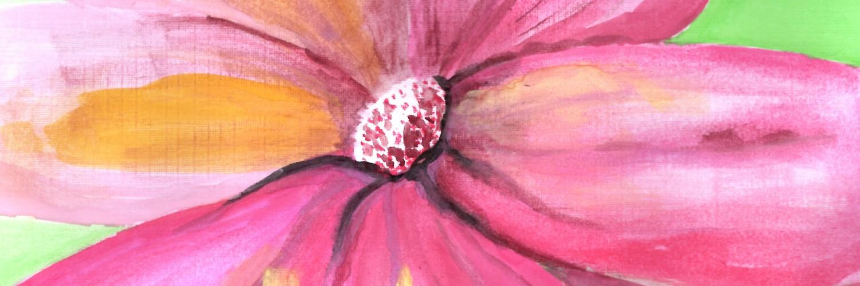 Abstract Watercolour Flower | Sandra Burns Art