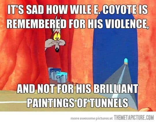 Wile E Coyote Art Meme | Sandra Burns Art