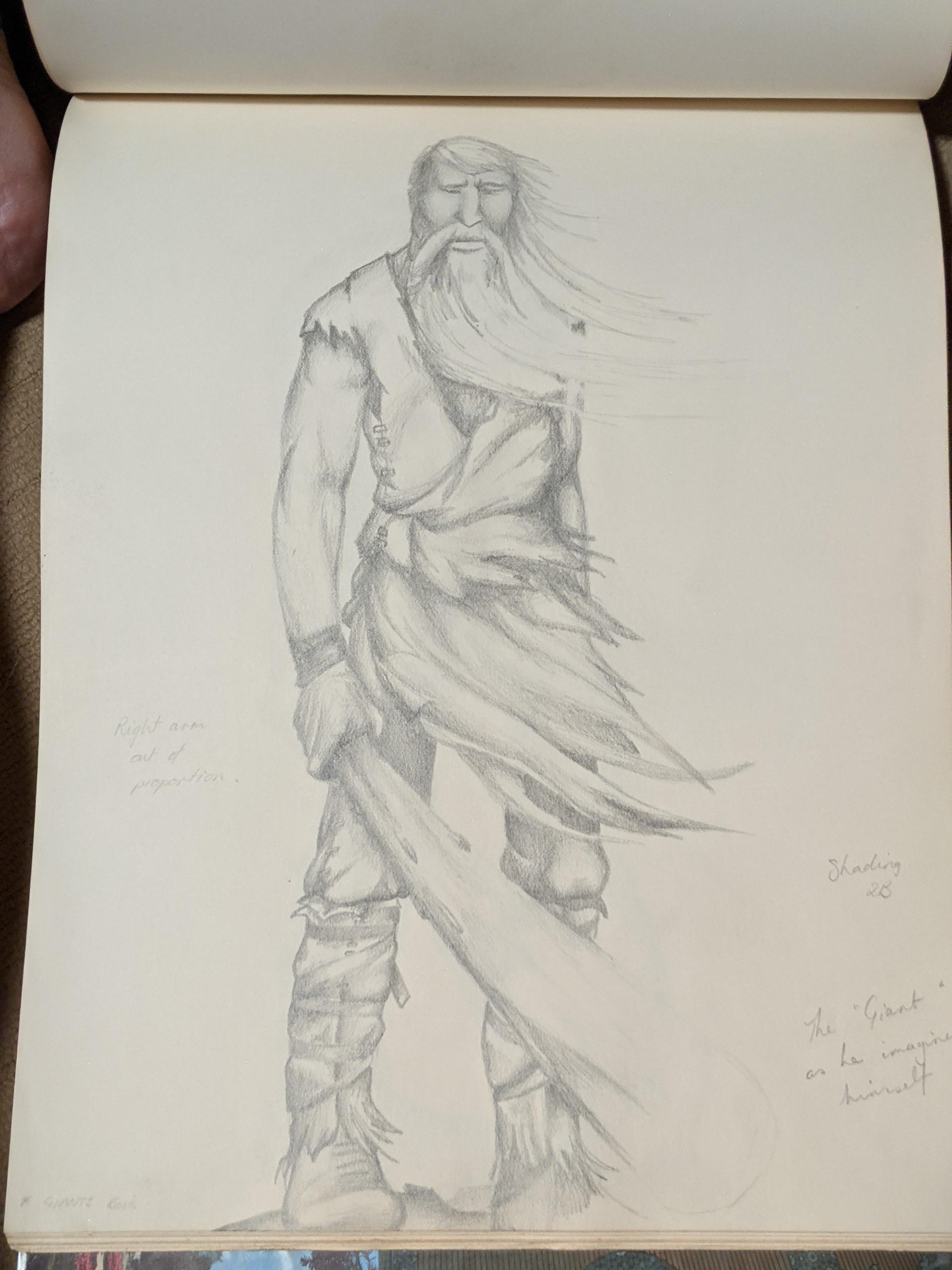 Sketchbook Giant (Dreamer) | Sandra Burns Art