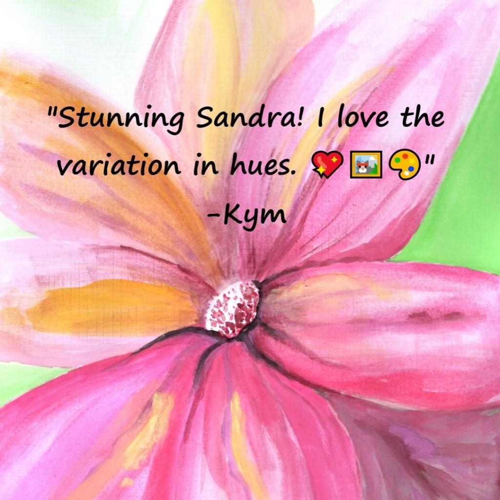 Abstract Watercolour Flower   Sandra Burns Art