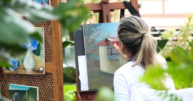 creating art | Sandra Burns Art
