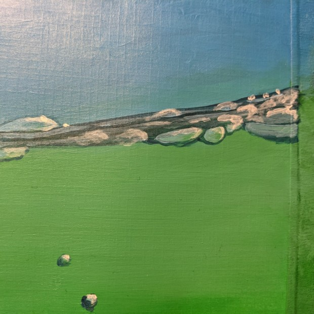 seal bubbles work in progress   Sandra Burns Art