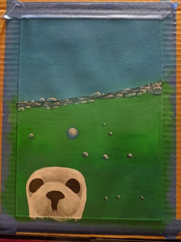 seal work in progress | Sandra Burns Art