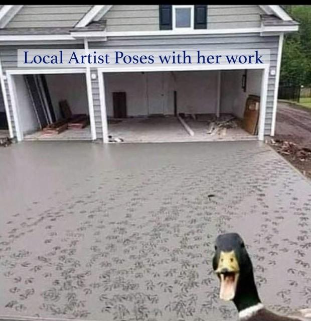 local artist meme
