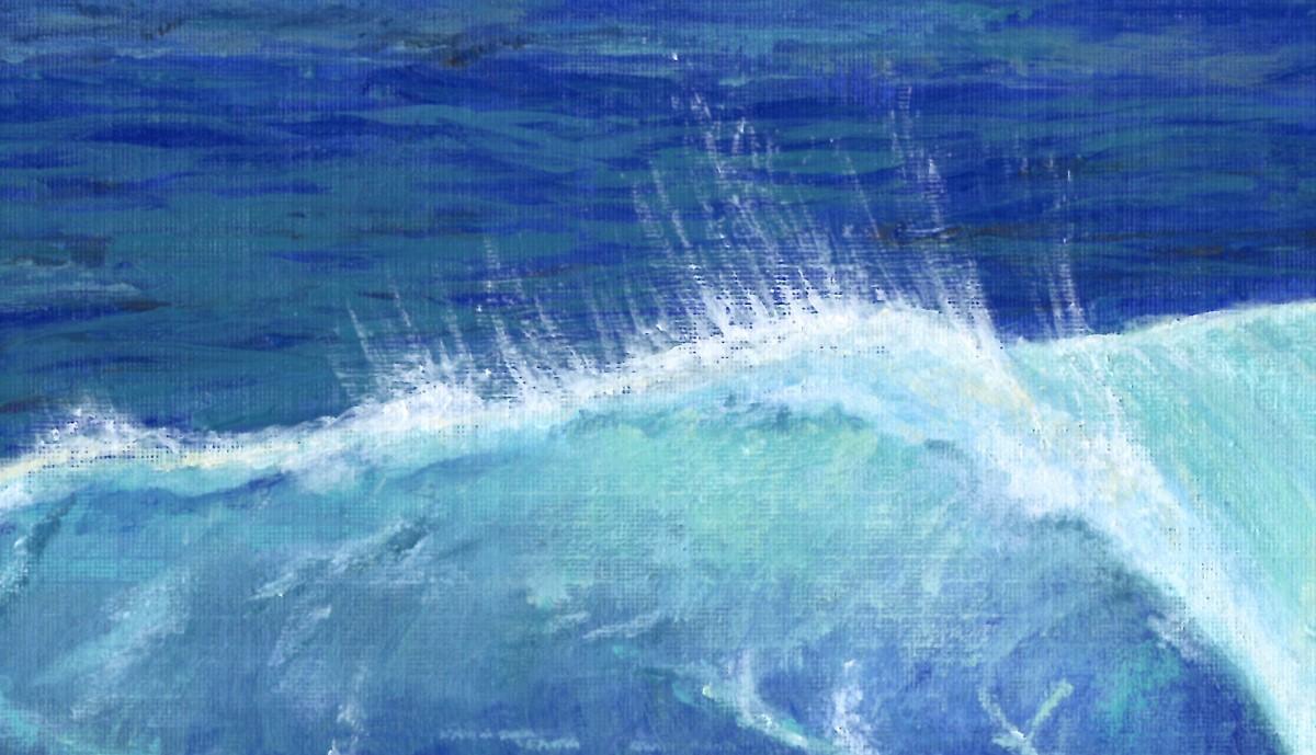 Ocean Wave close-up | Sandra Burns Art