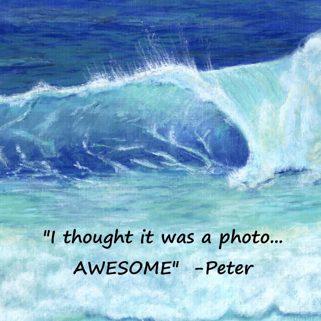 Ocean Wave feedback | Sandra Burns ART